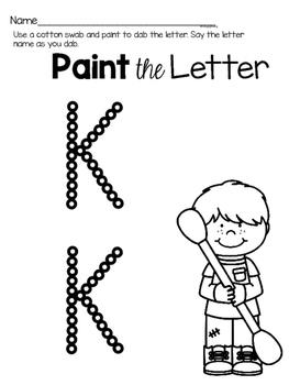 Capital Letter K Alphabet Center Activities
