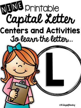 Capital Letter L Alphabet Center Activities