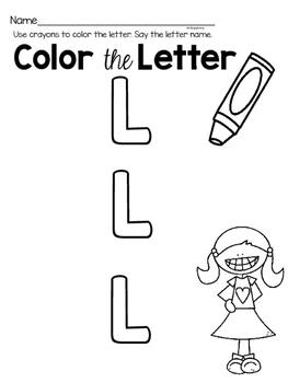 Capital Letter L Alphabet Center Activities