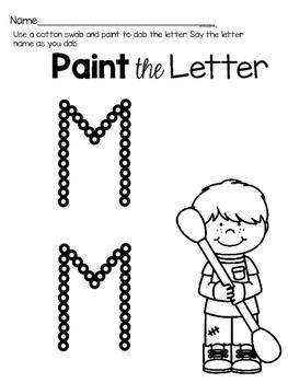 Capital Letter M Alphabet Center Activities