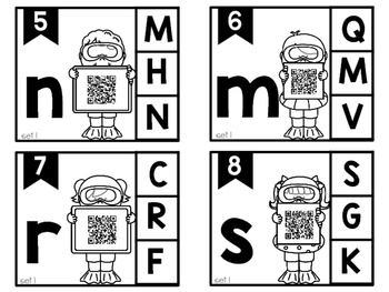 Capital Letter Matching Clip Cards with Self-Correcting QR codes