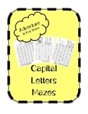 Capital Letter Mazes Preview