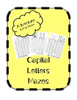 Capital Letter Mazes (26 Letters)