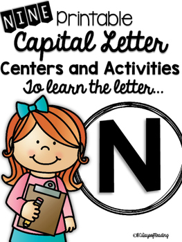 Capital Letter N Alphabet Center Activities