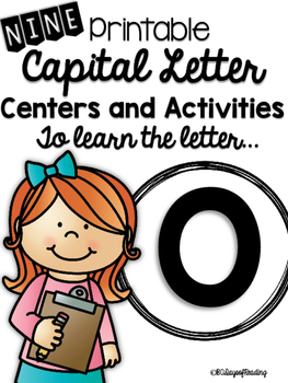 Capital Letter O Alphabet Center Activities