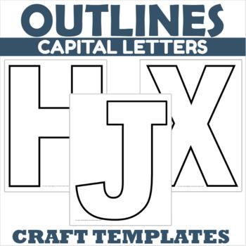 Capital Letter Outlines
