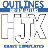 Capital Letter Outlines for A-Z