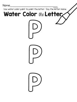 Capital Letter P Alphabet Center Activities