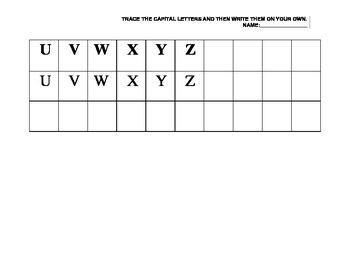 Capital Letter Practice