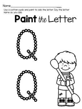 Capital Letter Q Alphabet Center Activities