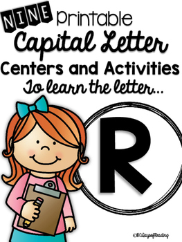 Capital Letter R Alphabet Center Activities