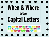 Capital Letter Rules Posters