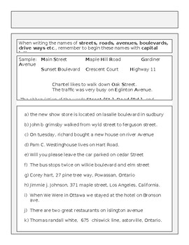 Capital Letter Rules for Capitalization and Activities 26 Pages MS Word File