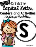 Capital Letter S Alphabet Center Activities