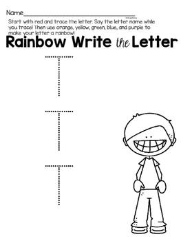 Capital Letter T Alphabet Center Activities