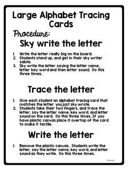 Capital Letter Tracing Cards