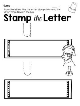 Capital Letter U Alphabet Center Activities