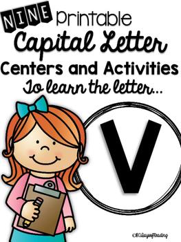 Capital Letter V Alphabet Center Activities