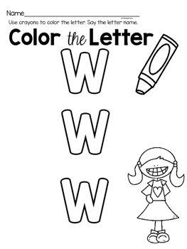 Capital Letter W Alphabet Center Activities