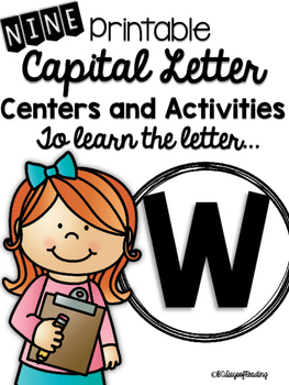 Capital Letter W Alphabet Center Activities