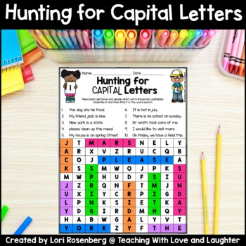 Word Searches {Capital Letters}