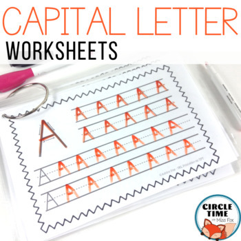 Capital Letter Handwriting Pages, Uppercase Writing Practice Book