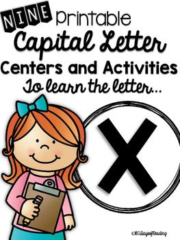 Capital Letter X Alphabet Center Activities