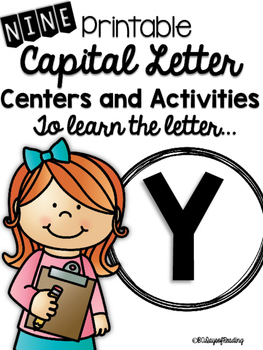 Capital Letter Y Alphabet Center Activities
