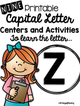 Capital Letter Z Alphabet Center Activities