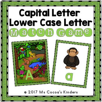 Capital Letter and Lower Case Letter Match Game - Animal Habitat - Rainforest