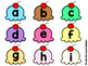 Capital Letter and Lower Case Letter Match Game - Ice Cream