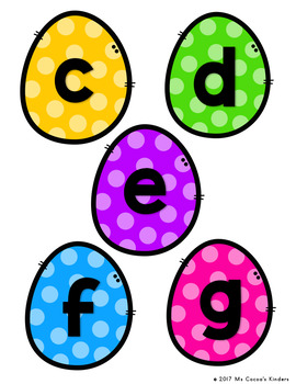 Capital Letter and Lower Case Letter Match Game - Spring Baskets