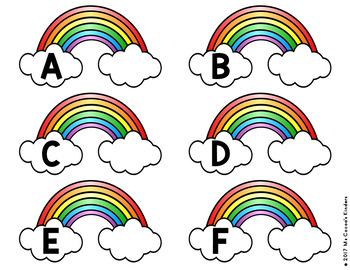 Capital Letter and Lower Case Letter Match Game - St Patrick's Day