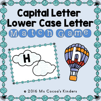 Capital Letter and Lower Case Letter Match Game - Transportation Bundle