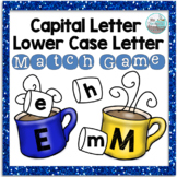 Capital Letter and Lower Case Letter Match Game - Winter Hot Cocoa