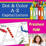 A-Z Dot and Color Letter Learning - Capital Letters