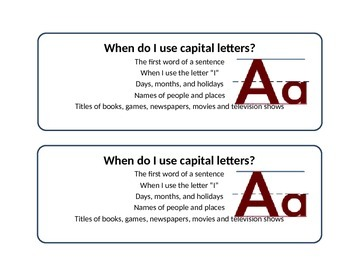 Capital Letters Cheat Sheet