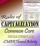 Capital Letters Common Core Smartboard Activity 22 pages