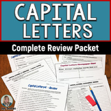 Capital Letters Complete Review Packet - Grades 5-8