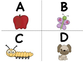Capital Letters Flash Cards