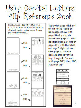 Capital Letters Flip Reference Book