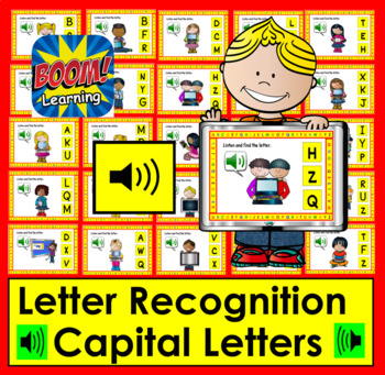 Boom Cards™ Letter Recognition Capitals - Digital Task Cards With Sound!