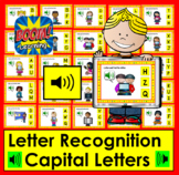 Boom Cards™ Alphabet Letter Recognition Capitals -Digital Task Cards With Sound!