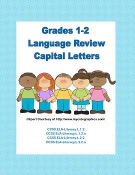 Capital Letters- Language Review Grades 1-2