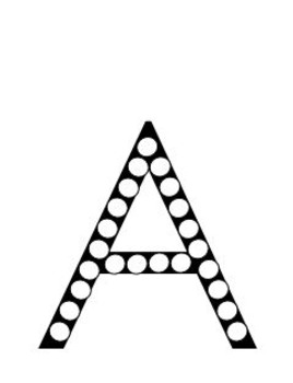 Capital Letters Letter Dotting