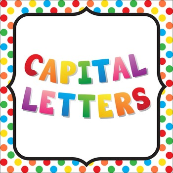 Capital Letters Poster