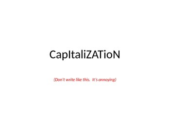 Capital Letters Powerpoint- Capitalization