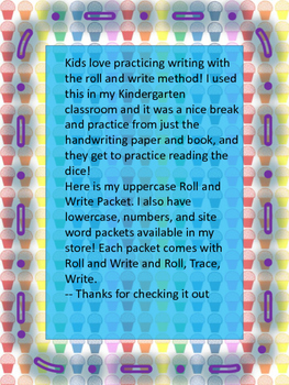 Capital Letters Roll and Write