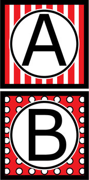 Capital Letters Set - Red & Black