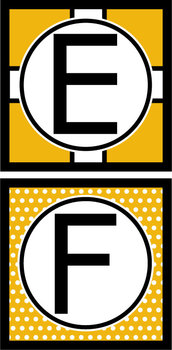 Capital Letters Set - Black & Gold